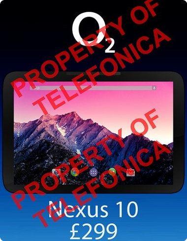 El nuevo Nexus 10 ha sido fabricado por LG y costará $480 dólares