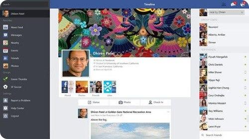 Facebook actualiza su app de Windows 8.1