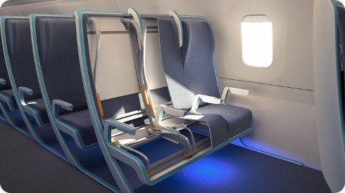 Morph: un asiento de avión que se adapta al tamaño del pasajero