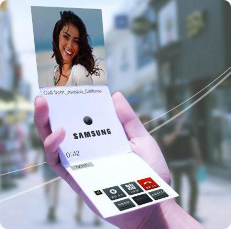 Samsung ha hecho algunas demostraciones secretas de prototipos de pantallas plegables