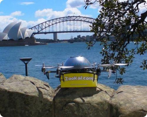 En Australia hay un servicio de entrega de libros que usa drones