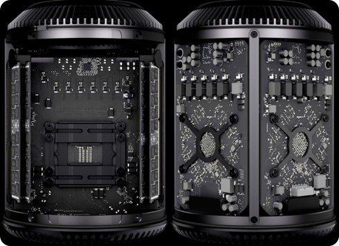 La RAM y el CPU de la Mac Pro 2013 pueden ser quitados y reemplazados
