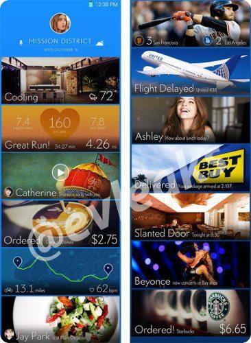Así sería la pantalla de inicio del Galaxy S5