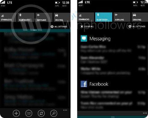 Así es el centro de notificaciones de Windows Phone 8.1