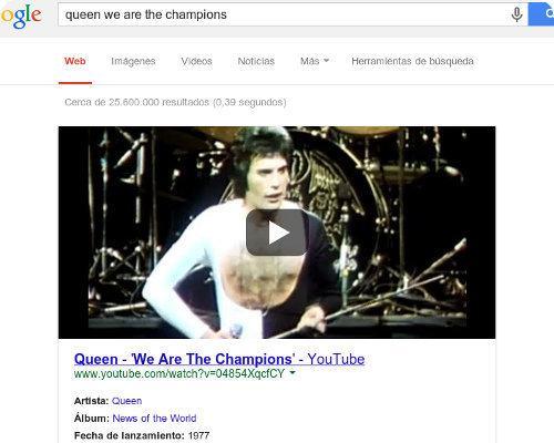 Google ahora resalta los videos de YouTube en sus resultados de búsqueda