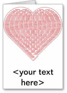Tarjeta de San Valentín en código binario