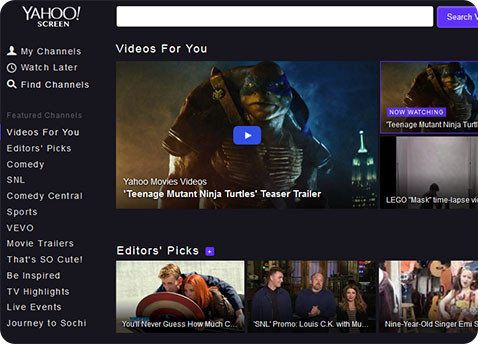 Yahoo busca competir con YouTube