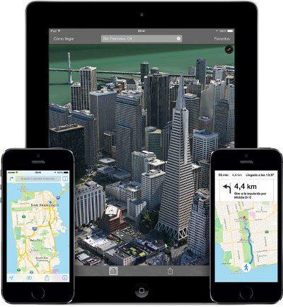 iOS 8 añadirá mejoras a nivel de Mapas