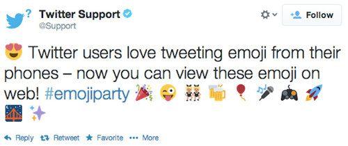 Twitter añade soporte para emojis