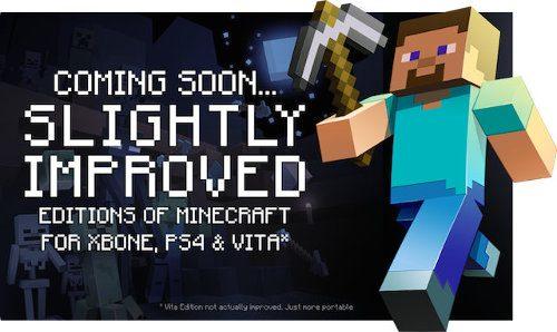 Minecraft anunciado para PS4, Xbox One y PS Vita