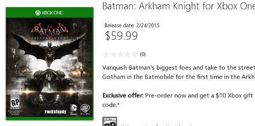 Batman: Arkham Knight será lanzado el 24 de febrero de 2015