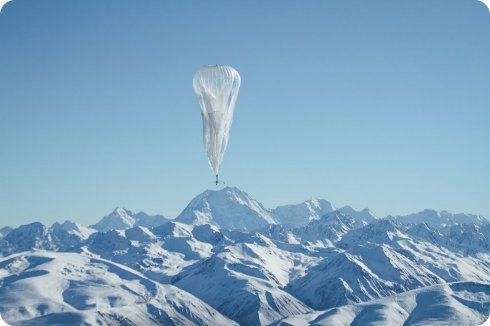 Un globo de Google ha chocado contra las líneas eléctricas