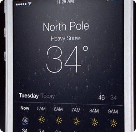 iOS 8 abandona la app del tiempo de Yahoo