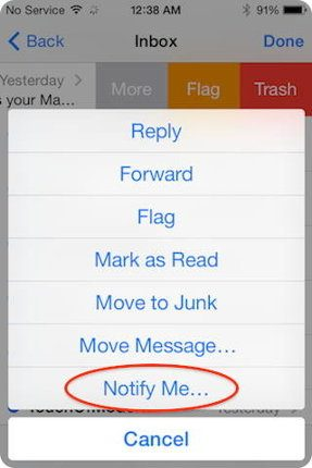iOS 8 permite habilitar las notificaciones para ciertos emails
