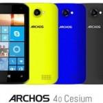 Archos anuncia su primer smartphone con Windows Phone 8.1