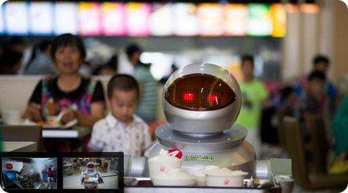 China: cada vez hay más robots en restaurantes