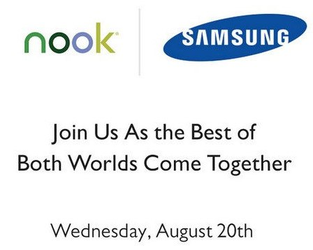 La Samsung Galaxy Tab 4 Nook sería anunciada el 20 de agosto