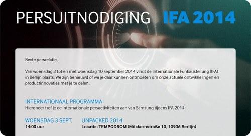 Samsung comienza a enviar las invitaciones para el evento del Galaxy Note 4