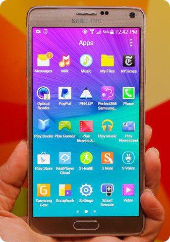 El Galaxy Note 4 ha sido bien recibido en Corea del Sur