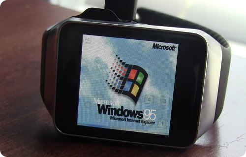 Este smartwatch corre con Windows 95