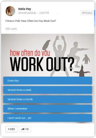 Google+ ahora permite colocar encuestas en las publicaciones