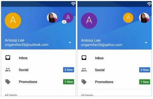 La app de Gmail incluirá soporte para Yahoo y Outlook
