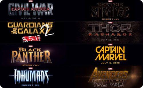 Marvel anuncia la fase 3 de su universo cinematográfico