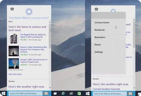 Cortana recibe un nuevo aspecto en esta filtración de Windows 10