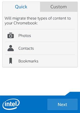Intel estrena una app para migrar contenido a nuestra Chromebook