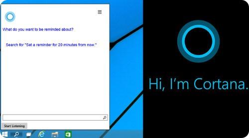 Primer vistazo a Cortana en Windows 10