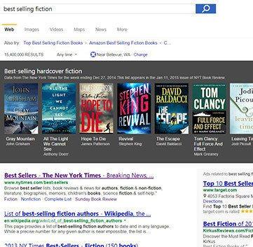 Bing ya te recomienda libros