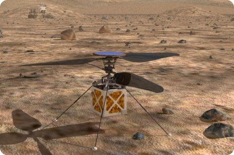 La NASA planea enviar un pequeño helicóptero a Marte