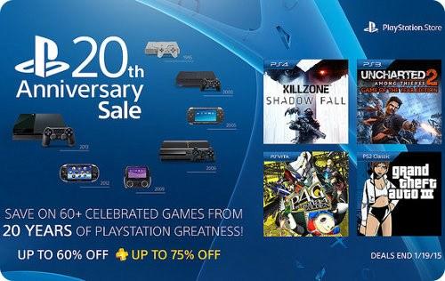Más de 60 juegos reciben descuentos por el 20 aniversario de PlayStation