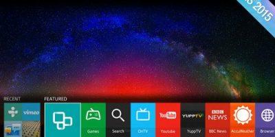 Samsung muestra la interfaz de sus nuevas smart TVs
