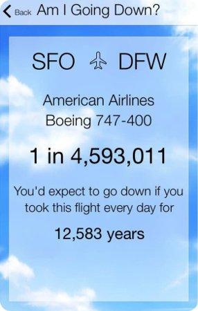 Esta app calcula las probabilidades de que tu avión se estrella