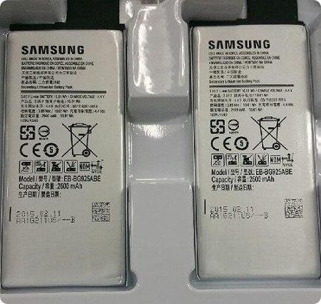 Esta es la batería del Galaxy S6