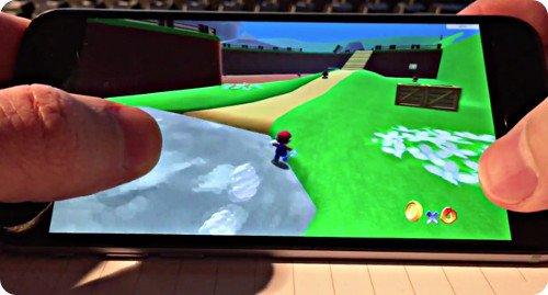 Así se ve Super Mario 64 corriendo en el iPhone 6