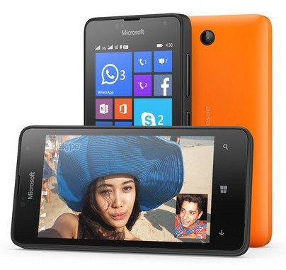 Microsoft anuncia el Lumia 430, su smartphones más barato