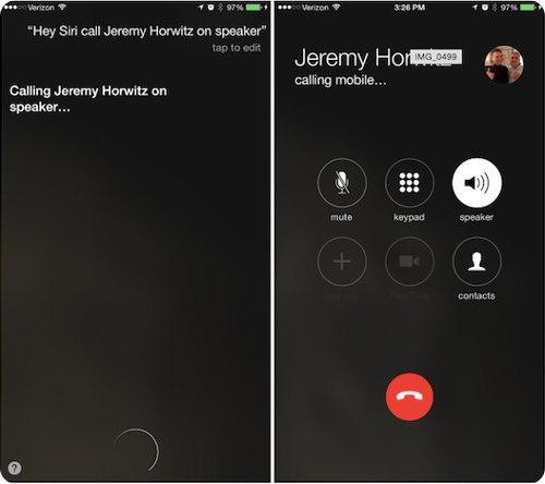 iOS 8.3 te permite realizar llamadas en altavoz a través de Siri