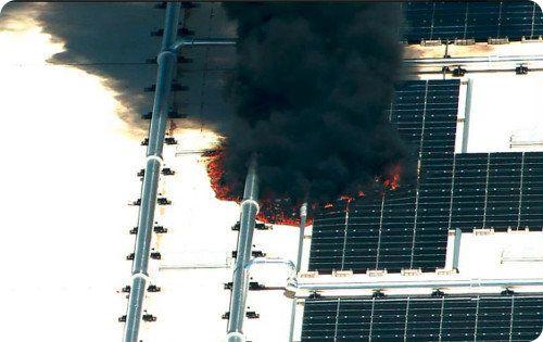 Se incendió el techo de la fábrica de Apple en Arizona