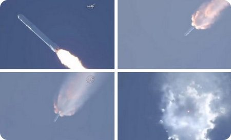 Explota el cohete Falcon 9 de SpaceX luego del despegue
