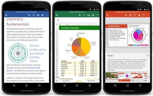 Office para móviles Android ya está disponible