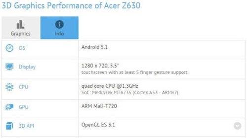 Se filtra el nuevo Acer Liquid Z630