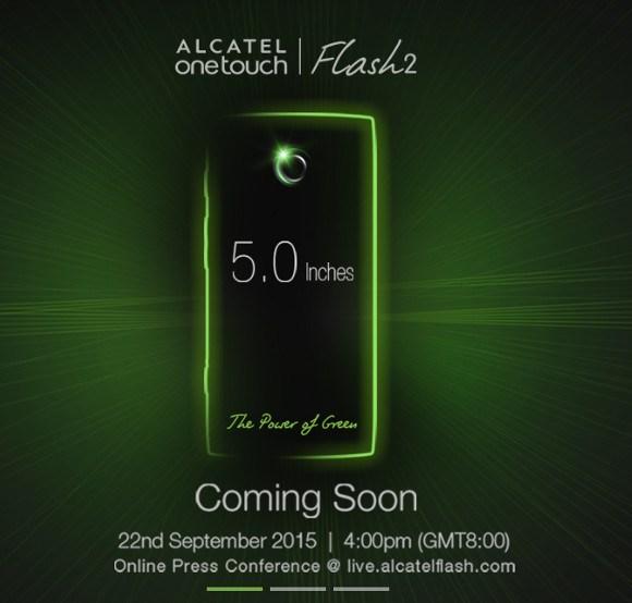 El Alcatel OneTouch Flash 2 será presentado el 22 de septiembre