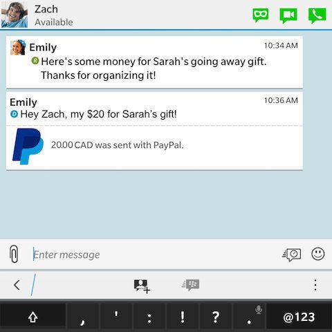 Los usuarios de BBM podrán enviar dinero vía PayPal