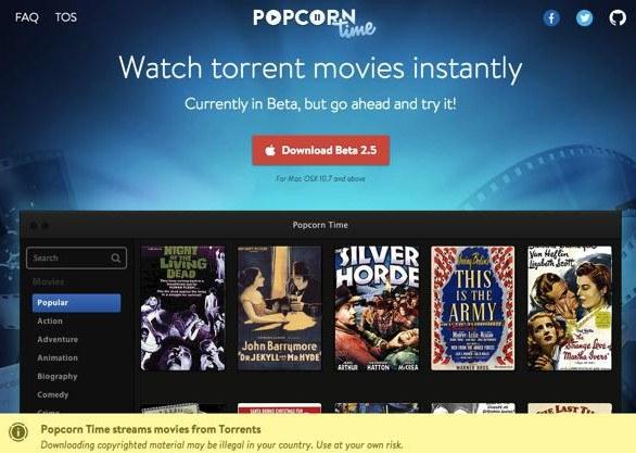 Usuarios de Popcorn Time son demandados por un estudio cinematrográfico