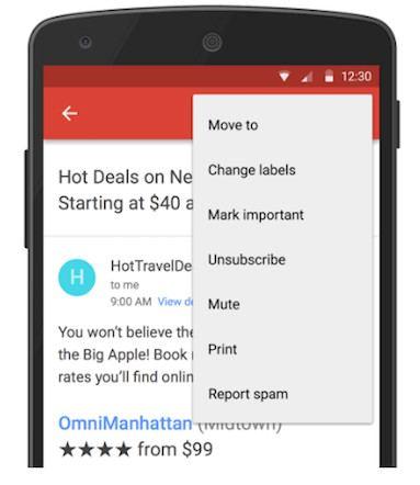 Gmail ya te permite bloquear casillas y quitar suscripciones
