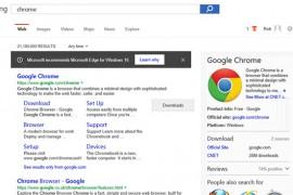 Microsoft utiliza el buscador Bing para recomendar su navegador Edge