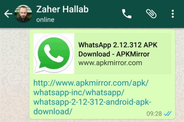 WhatsApp mostrará previsualizaciones de URLs
