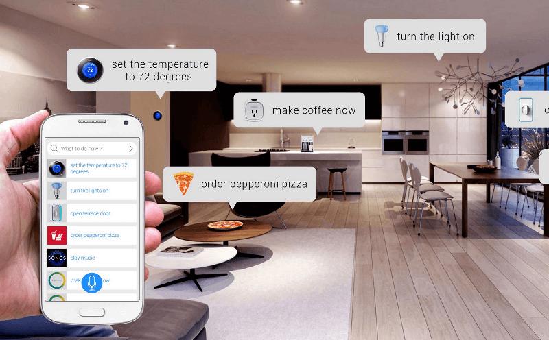 hogar inteligente controlado desde el smartphone